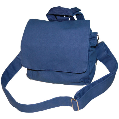 Canvas Tasche Kindergartentasche Rohling dunkelblau von Lieblingsstücke 4330 feste Baumwolltasche für Kinder zum Selbstgestalten
