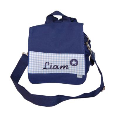 Kita-Tasche mit Namen blau von Lieblingsstücke