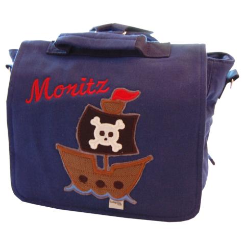 Kindergartentasche Piratenschiff mit Namen - Lieblingsstücke