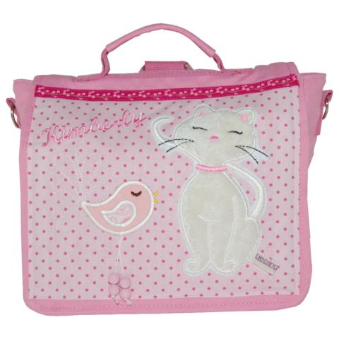 Kindergartentasche Katze und Vogel mit Namen von Lieblingsstücke