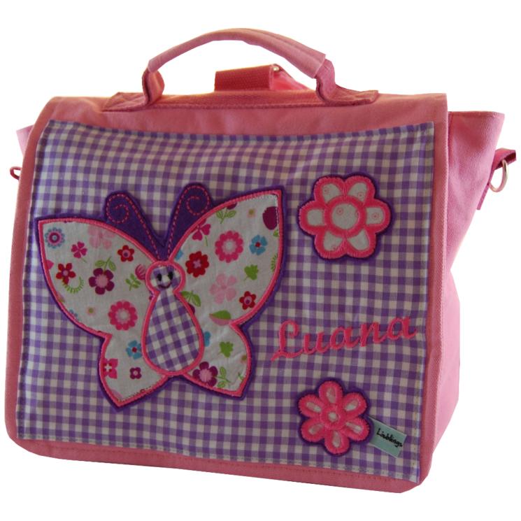 Kindergartentasche Schmetterling und Namen von Lieblingsstücke