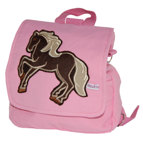 Kindergartetasche Pferd von Lieblingsstücke rosa