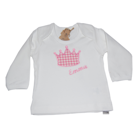 Shirt mit Namen und Krone von Lieblingsstücke 4330
