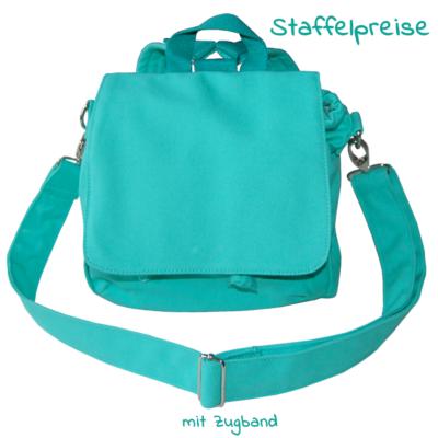 Taschenrohling Kindertasche Rucksack Multifunktionstasche in türkis von Lieblingsstücke 4330