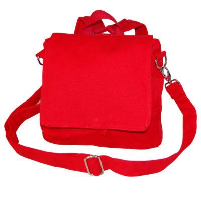 Canvastasche in rot Kindergartentasche zum Gestalten von Lieblingsstücke 4330