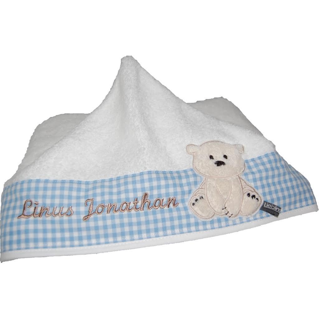 personalisiertes baby handtuch