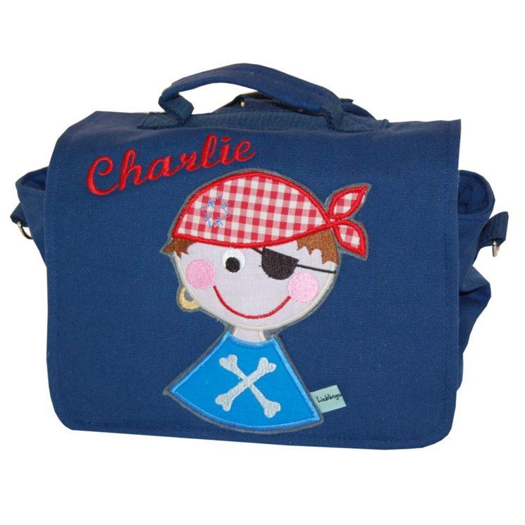 Kindergartentasche L blau Pirat und Namen