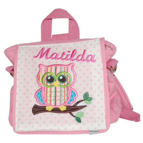 Lieblingsstücke Kindergartentasche mit Eule und Namen