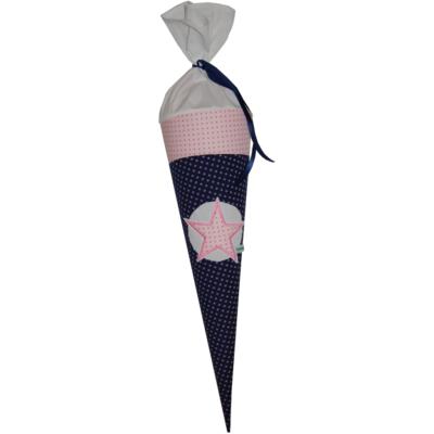 Schultüte Stern mit Namen in blau und rosa von Lieblingsstücke
