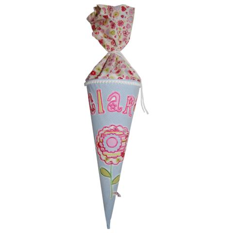 Schultüte Blume mit Namen Geschwisterblume Lieblingsstücke