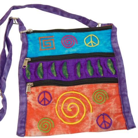 Tasche Peace in buntem Design