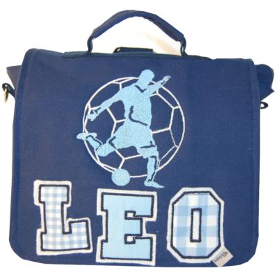 Kindergartentasche Fußballer und Namen aus großen Buchstaben Lieblingsstücke