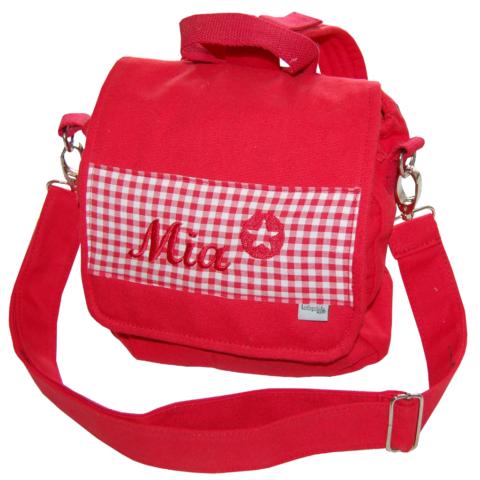 Kindergartentasche Kita-Tasche mit Namen und Sternchen in rot