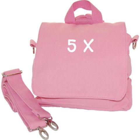 5er Set Taschenrohlinge rosa