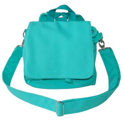 Canvastasche Rucksack und Tasche in einem von LIeblingsstücke in türkis