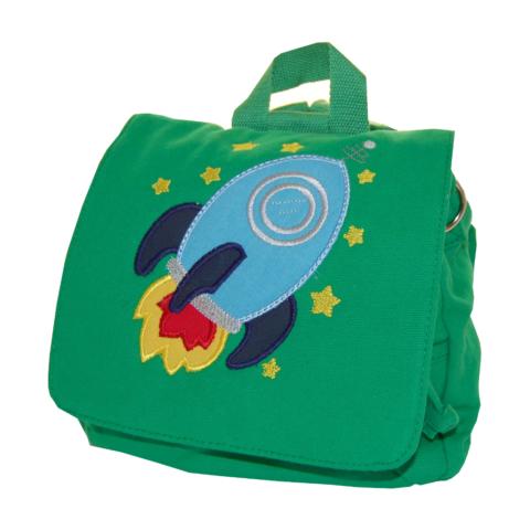 Kindergartentasche Rakete in grün von Lieblingsstücke