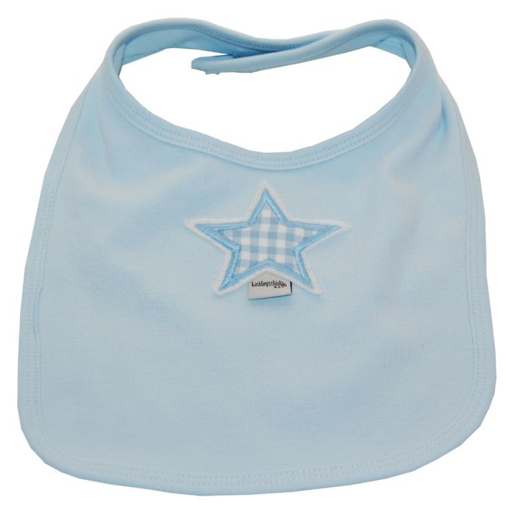 Lätzchen Stern in hellblau von Lieblingsstücke