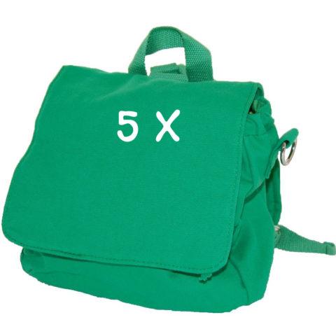 Set Taschenrohlinge 5x Kindertasche grün