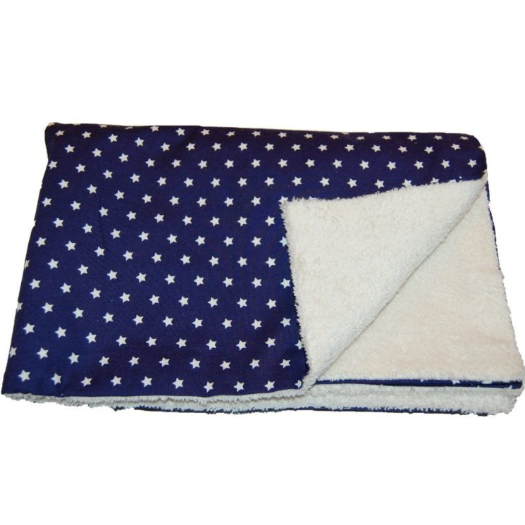 Baby Kuscheldecke Sterne in dunkeblau von Lieblingsstücke