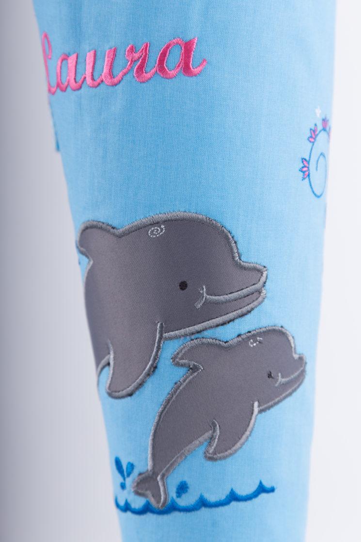 Zuckertüte Delfin mit Namen aus Stoff