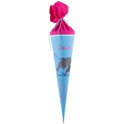 Schultüte Delfin mit Namen von Lieblingsstücke