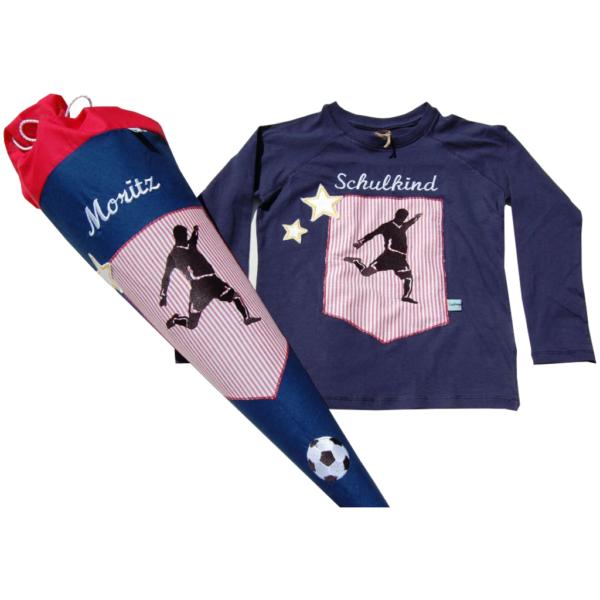 Schultüte und Shirt Fußballer von Lieblingsstücke