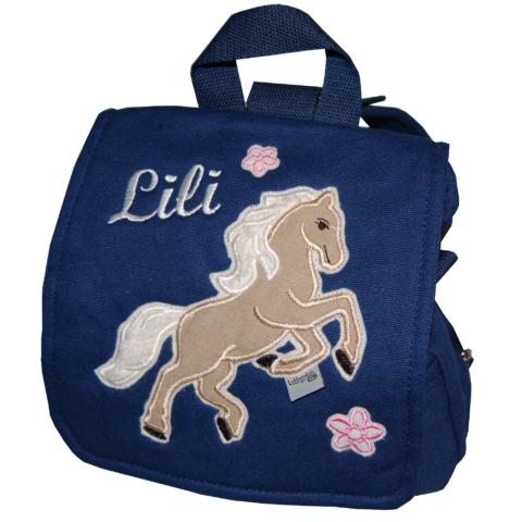 Kindergartentasche mit Pferd und Namen von Lieblingsstücke