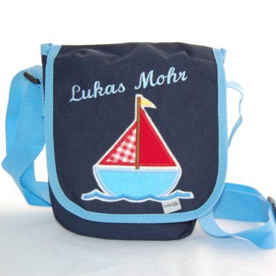 Kindertasche Segelschiff mit Namen von Lieblingsstücke