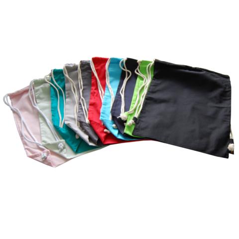 Turnbeutel zum Selbstgestalten in vielen Farben aus Baumwolle