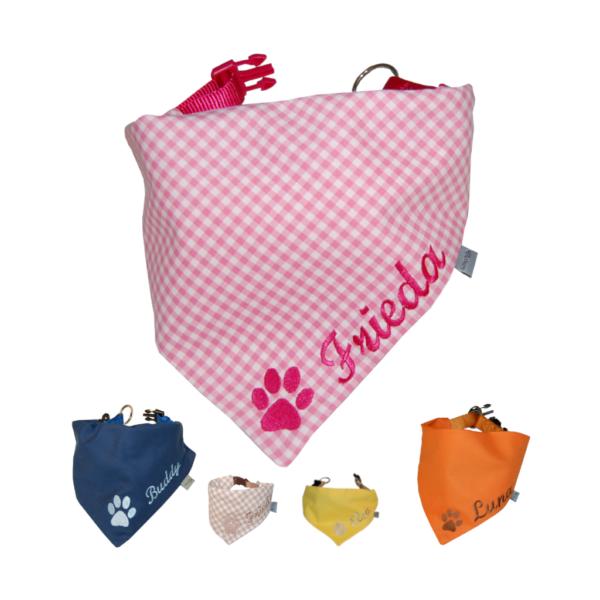 Halstuch für Hunde mit Namen und Pfote von Lieblingsstücke 4330