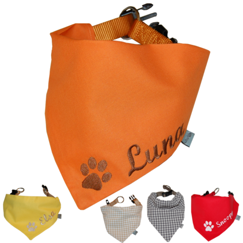Hundehalsband mit Namen und Pfote von Lieblingsstücke 4330