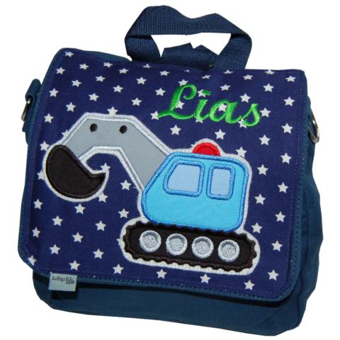 Kindergartentasche mit Bagger und Namen von Lieblingsstücke 4330