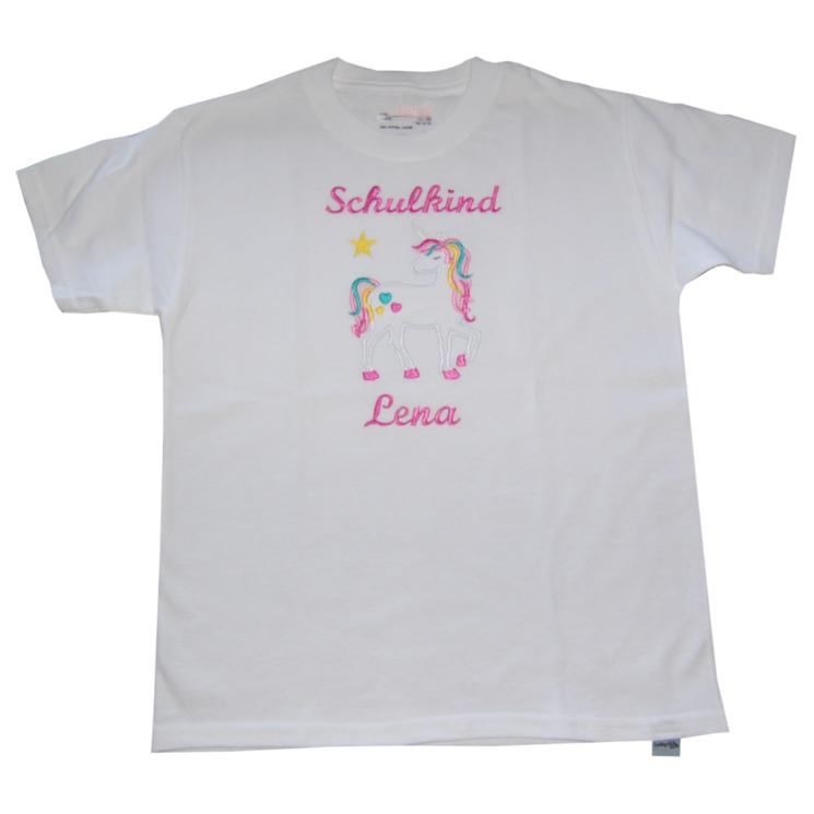 T-Shirt Einhorn Einschulung Schulkind Lieblingsstücke