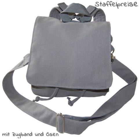 Taschenrohling grau Tasche und Rucksack zum Selbstgestalten von Lieblingsstücke 4330