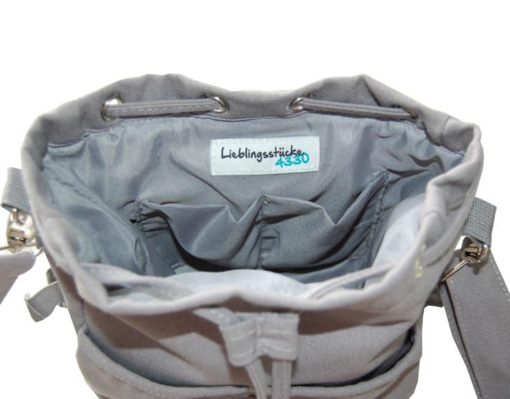 Kindergartentasche Rohling Rucksack in grau von Lieblingsstücke