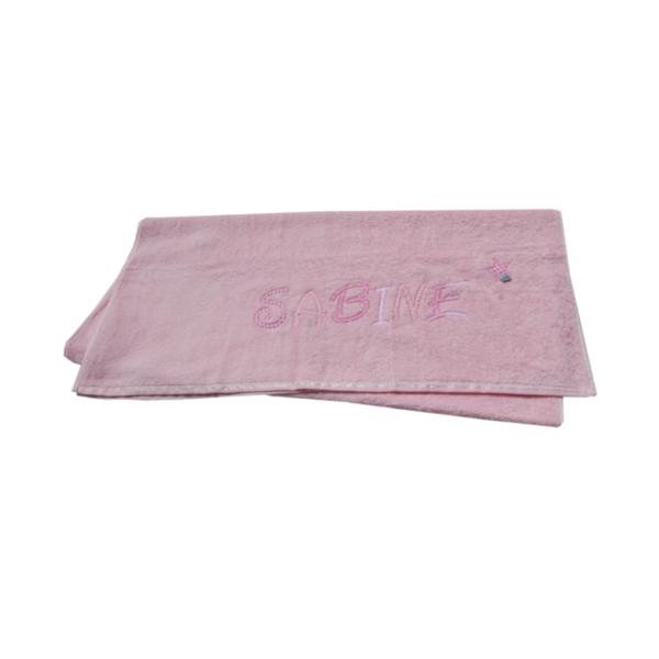 großes Handtuch mit Namen von Lieblingsstücke 4330 in rosa