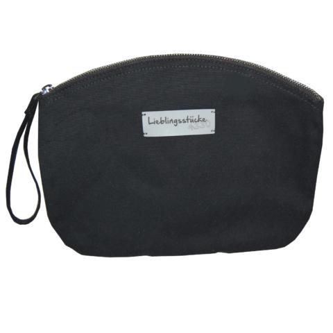 Kosmetiktasche aus Baumwolle schwarz aus keine Baumwolle von Lieblingsstücke 4330