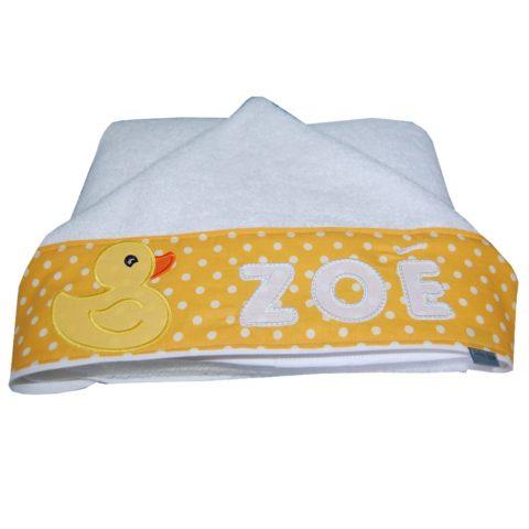 Handtuch mit Namen und Entchen für Babys von Lieblingsstücke 4330