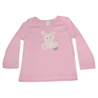 Langarmshirt mit Häschen in rosa von Lieblingsstücke 4330
