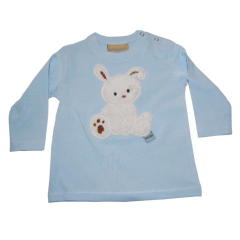 Shirt mit Häschen und auf Wunsch mit Namen von Lieblingsstücke 4330