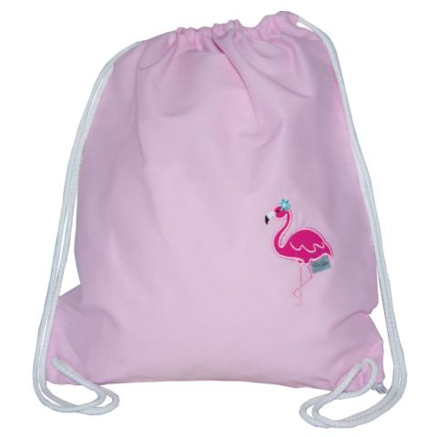 Turnbeutel mit Flamingo in zartrosa von Lieblingsstücke 4330