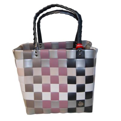 ICE BAG 5009 Einkauftasche Shopper in rosa, taupe, weiß und schwarz
