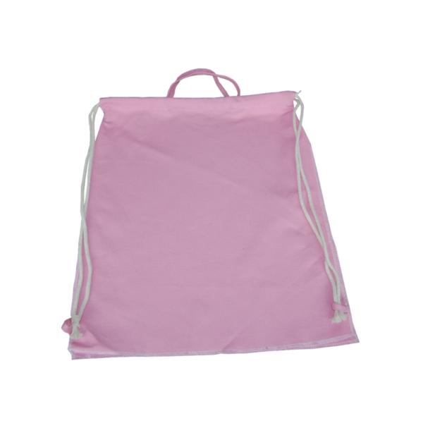 Canvas Turnbeutel in rosa zum Selbstgestaltung R