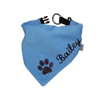 Halstuch für Hunde mit Namen und Pfote
