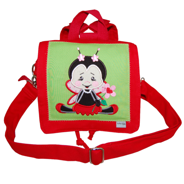 Kindergartentasche mit Marienkäfer und Namen von LIeblingsstücke 4330