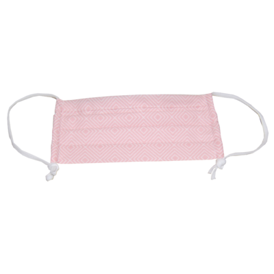 Mund-Nasen-Schutz rosa verstellbare Größe in rosa