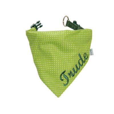 Halstuch für Hunde in grün mit Namen